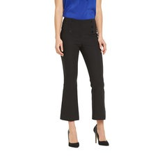 V By Very Cropped Button Kickflare Trousers