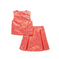 V By Very Premium Jacquard Top & Skirt Set