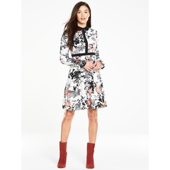 V By Very Contrast Collar Floral Print Dress