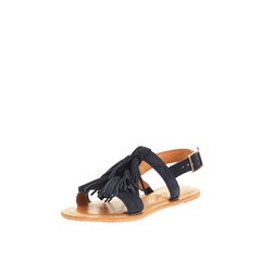 V by Very Canyon Suede Tassel Front Sandals