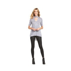 V By Very Keyhole High Neck Wrap Jersey