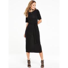 V By Very Slinky Side Split Midi Dress