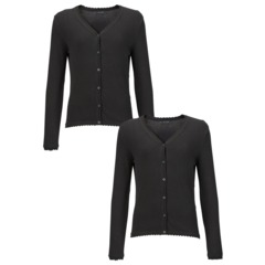 Top Class Girls Pack Of Two Cotton Rich Cardigans