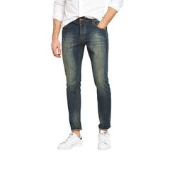 V By Very Mens Slim Fit Vintage Coated Jeans