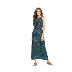 V By Very Printed Halter Neck Beach Dress