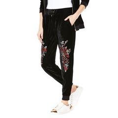 V By Very Embroidered Velour Joggers