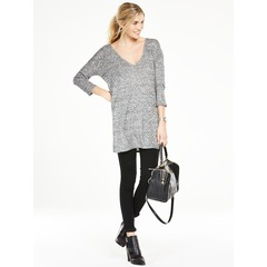 V By Very Jersey Knit Rib V-Neck Tunic