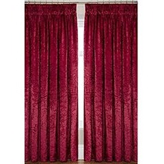 Laurence Llewelyn-Bowen Curtain Call Velvet-effect Pencil Pleat Curtains 109 x 229 cm