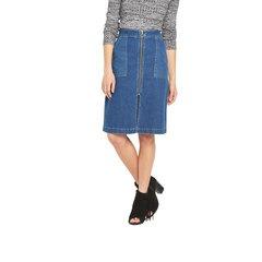 Miss Selfridge Zip Through Midi Skirt