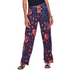 V By Very Petite Printed Wide Leg Jersey Trousers