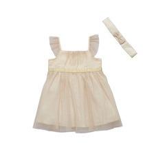 Ladybird Baby Girls Occasion Chiffon Dress With Matching Headband