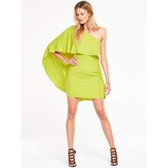 V By Very One Shoulder Ruffle Dress