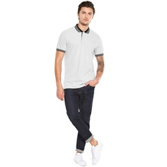 V By Very Pique Polo Long Sleeved Top