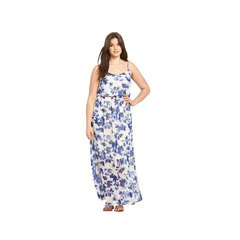 Junarose Strappy Floral Print Maxi Dress