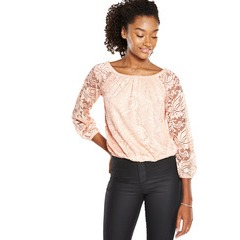 V By Very Long Sleeved Lace Bardot Top