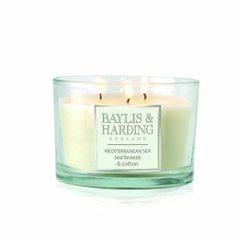 Baylis & Harding Mediterranean Sea 3 Wick Candle
