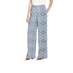 V By Very Blue Print Palazzo Trouser