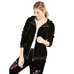 V By Very Embroidered Velour Zip Thru Hoody