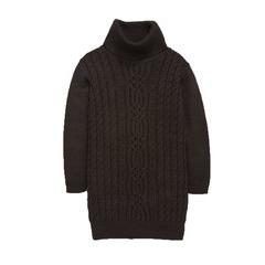 Freespirit Long Sleeve Cable Knit Side Split Dress