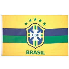 Brazil Football Team CBF Crest 5 x 3 ft Flag