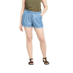 So Fabulous Embroidered Tencel Denim Shorts