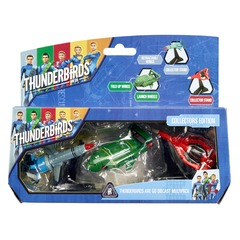 Thunderbirds Diecast Pack of 3 Collectable Figures