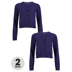 Top Class Girls Pack Of Two Essential Cotton Cardigans