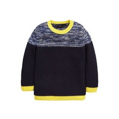 Mini V by Very Boys Twisted Yarn Panel Knitted Jumper