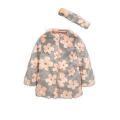 Ladybird Toddler Girls Daisy Fur Collarless Coat