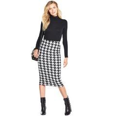 V By Very Dogtooth Midi Pencil Skirt