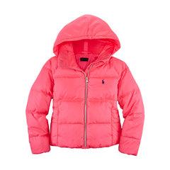 Ralph Lauren Girls Hooded Down Filled Jacket