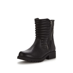 V By Very Clyde Zip Detail Biker Boots