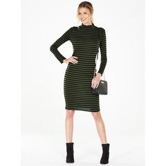 V By Very Stripe Turtle Neck Bodycon Dress