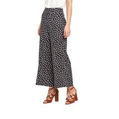 V By Very Mono Print Wide Leg Crop Trousers