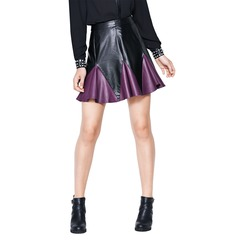 Love Label Pleated Leather Look Skirt