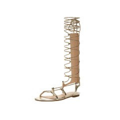 V by Very Grovener Metallic Gladiator Tie Up Sandals
