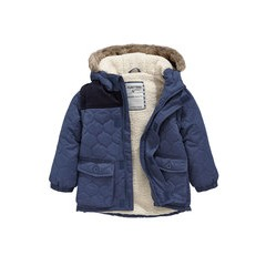 Ladybird Toddler Boys Quilted Hooded Zip Off Sleeve Jacket