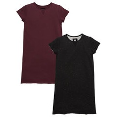 V By Very 2 Pack Sweat Dresses