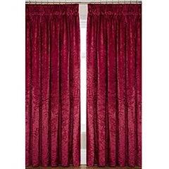 Laurence Llewelyn-Bowen Curtain Call Velvet-effect Pencil Pleat Curtains 160x229cm