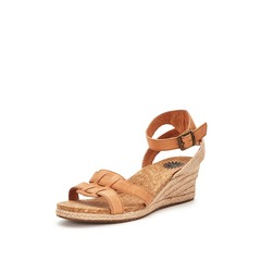UGG Maysie Leather Wedged Sandals
