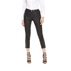 V By Very Cropped Coated Biker Jeans
