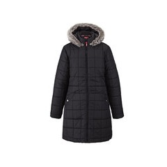 Puffa Girls Longline Hooded Coat
