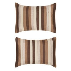 Clio Pack Of Two Stripe Filled Boudoir Cushions