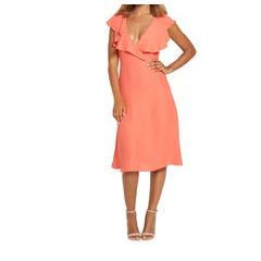 Very Ruffle Front Midi Dress