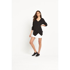 Vila Vimatch Knit Top Black