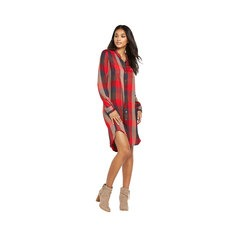 Levis Long Sleeved Check Shirt Dress