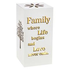 Decorative Family Motto Lamp Ornament