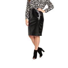 So Fabulous! Zip Front Pencil Skirt