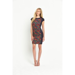 Ted Baker Cherry Print Panel Bodycon Dress