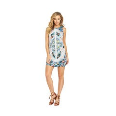 Oasis Patchwork Chintz Shift Mini Dress